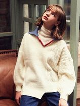 VITALSIGN ☆V Collar Unblanced Knit Sweater☆