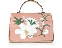 MARIO VALENTINO Powder Pink Eco-Leather Large Top Handle Bag