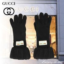 [関税・送料無料]  VIP価格♪ GUCCI LOGO GUCCI GLOVES