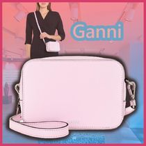 GANNI 3WAY コンパクト レザーバッグ 可憐な☆パステルピンク☆