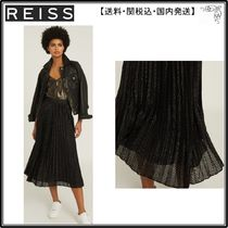 【海外限定】REISS スカート☆MARIANNE MESH PLEATED MIDI SKIRT