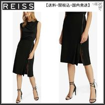 【海外限定】REISS スカート☆Vanessa full-zip pencil skirt
