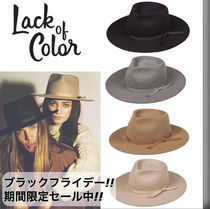lack of color(ラックオブカラー) ハット 男女兼用【Lack of color】100% ソフト ウール フェドラ ハット