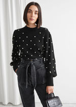 & Other Stories☆Pearl Dot Puff Sleeve Sweater