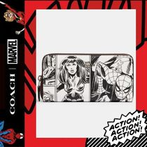 COACH×Marvel★Accordion Zip Wallet With Comic Book 3477