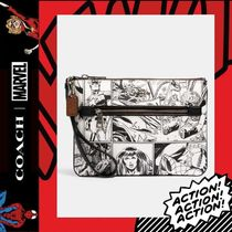 COACH×Marvel★Gallery Pouch With Comic Book Print 3578