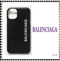【BALENCIAGA】Printed textured-leather iPhone 11 case