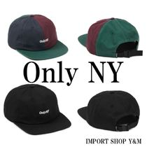 ONLY NY(オンリーニューヨーク) キャップ 送料/関税込【only NY】☆コアロゴポロハット☆キャンプ