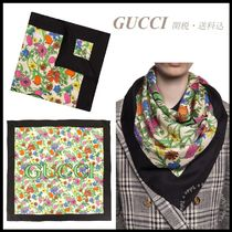 *GUCCI*フローラプリント シルクスカーフ 関税/送料込