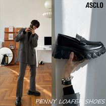 【ASCLO】★OUT BRUSH PENNY LOAFER SHOES★  / 追跡可能