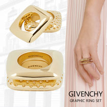 GINGER掲載【GIVENCHY】グラフィック リング セット