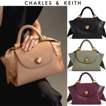 【Charles&Keith】and GIRL掲載!サテンリボンバッグ *送料込