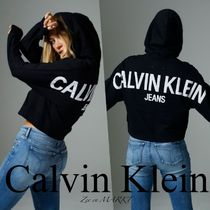 Calvin Klein Jeans◇バックロゴ クロップドパーカー ◆送料込◆