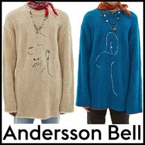 ★ANDERSSONBELL★OVERSIZED EMBROIDERY SWEATER★人気★