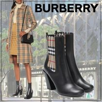 【Burberry】Vintage Check leather ankle boots