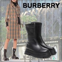 【Burberry】Hurr stretch-leather ankle boots