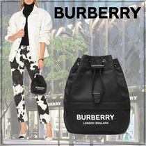 【Burberry】Phoebe nylon drawstring pouch
