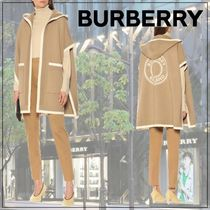 【Burberry】Wool and cashmere jacquard cape