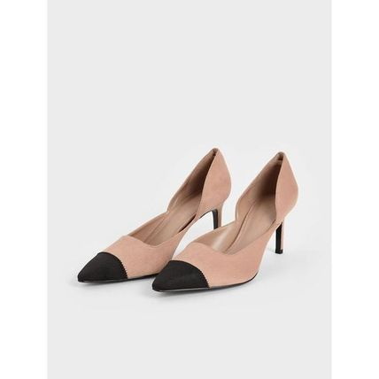 Charles&Keith パンプス Charles&Keith★Textured D'Orsay Stiletto Pumps/size22-26cm(7)