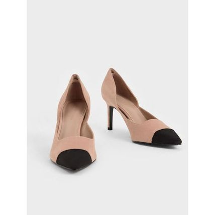 Charles&Keith パンプス Charles&Keith★Textured D'Orsay Stiletto Pumps/size22-26cm(8)