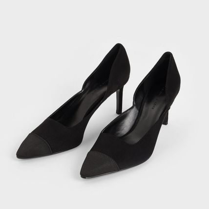 Charles&Keith パンプス Charles&Keith★Textured D'Orsay Stiletto Pumps/size22-26cm(14)