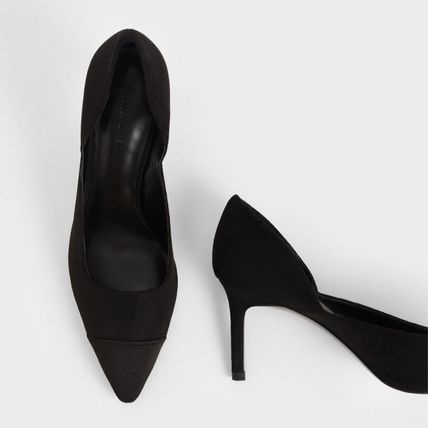 Charles&Keith パンプス Charles&Keith★Textured D'Orsay Stiletto Pumps/size22-26cm(17)