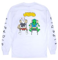 Ripndip Butts Up L/S T-Shirt White L Tシャツ