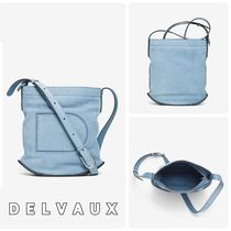 【DELVAUX】新色♪Pin Denim II レザーバケットバッグ◆追跡付!