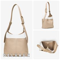 【DELVAUX】So Cool MM☆バイカラーレザーショルダー◆追跡付!