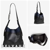 【DELVAUX】So Cool MM Sellier☆バイカラーレザーショルダー