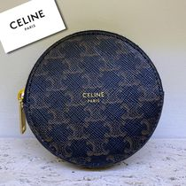 ★NEW★【CELINE】Triomphe Canvas コインケース (Black)