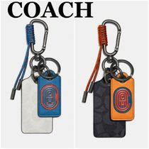 【COACH】Key Fob In Signature Canvas With Coach Patch