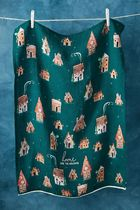 Anthropologie限定☆Laura Hughes Gingerbread Home Dish Towel