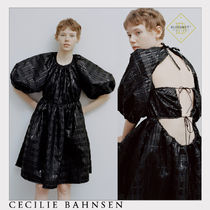 *CECILIE BAHNSEN* ブラック 黒 パフスリーブ フィルクーペ 膝上