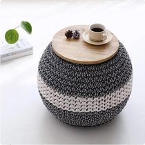 【MARKET B】WISCON Solid Wood Top Pouf