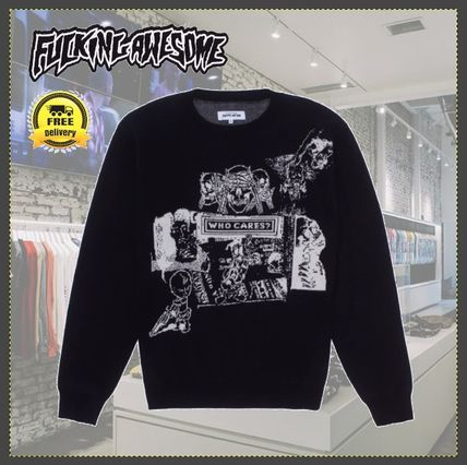 【国内発送】送関込/Fucking Awesome/Who Cares Sweater