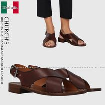 CHURCH'S RHONDA FLAT SANDALS IN SMOOTH LEATHER