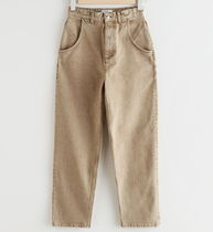 """& Other Stories"" Tapered High Waist Jeans Beige"