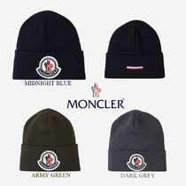 【MONCLER】モンクレール☆メンズウールハットMonclerロゴ入り
