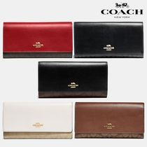 COACH♥Trifold Wallet Signature 長財布 88024