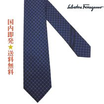 Salvatore Ferragamo35 7999 712863 F.BLUEネクタイネイビー系