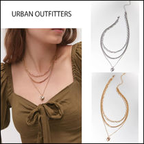 Urban Outfitters ☆ロケット・ハート 重ねつけ風 ネックレス