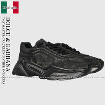 DOLCE & GABBANA DAY MASTER CRACKLED LEATHER SNEAKERS