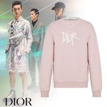 Dior AND SHAWN STUSSY ロゴ コットン スウェット ピンク