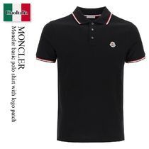 Moncler basic polo shirt with logo patch