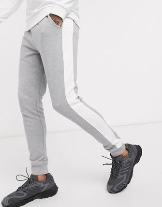 ASOS パンツ ASOS DESIGN skinny joggers with side stripe(6)