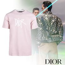 Dior AND SHAWN STUSSY コットン Tシャツ ピンク