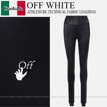 OFF WHITE  ATHLEISURE TECHNICAL FABRIC LEGGINGS