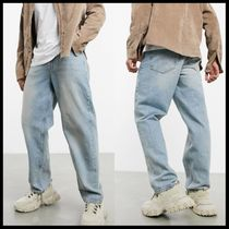 ASOS DESIGN baggy jeans in vintage blue wash with tint