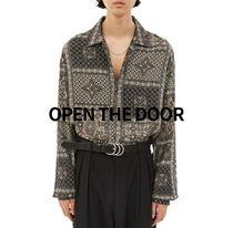 OPEN THE DOOR ethnic silky shirts (2 color)